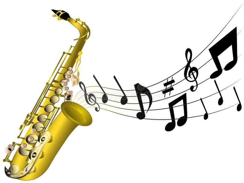 Illustration d'un saxophone classique photos libres de droits
