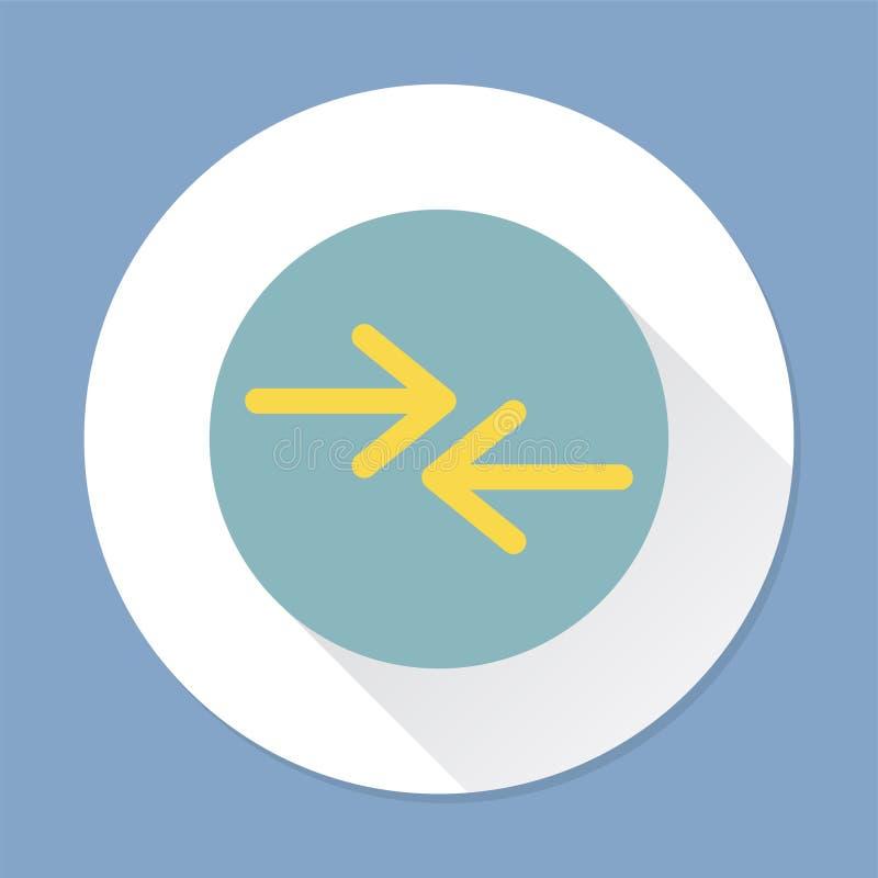 Illustration d'un signe de flèche illustration stock