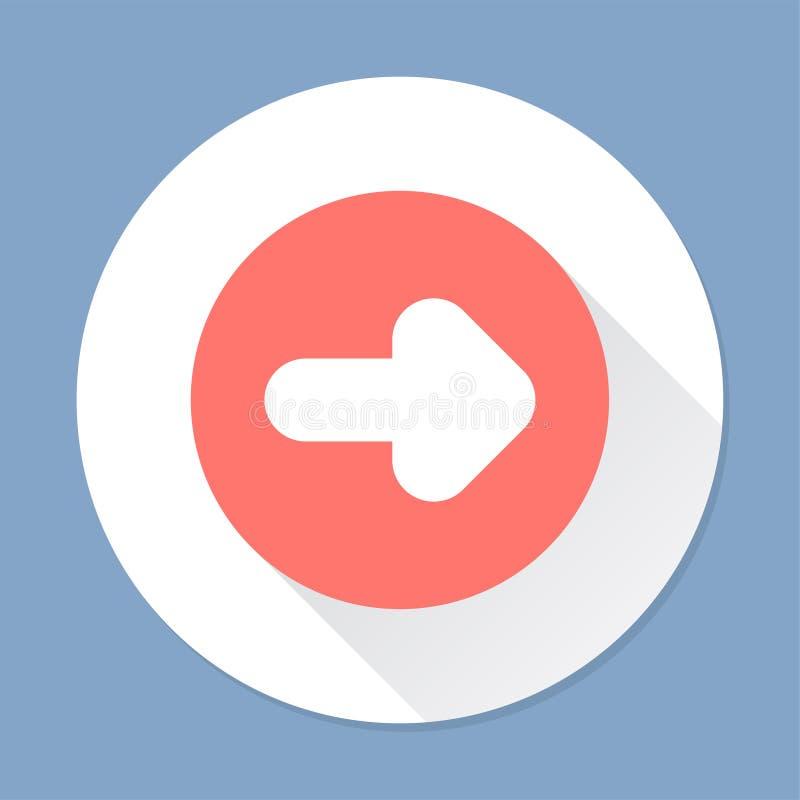 Illustration d'un signe de flèche illustration de vecteur