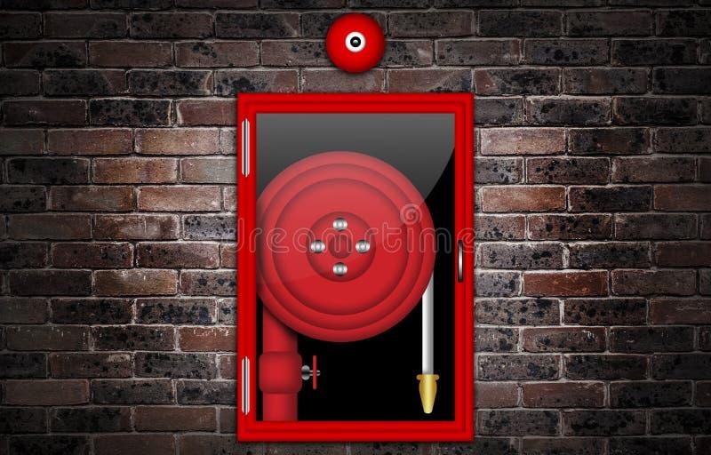 Illustration d'un tuyau d'incendie illustration libre de droits