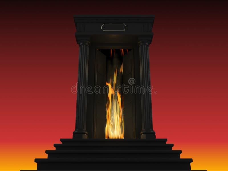 Illustration d'une échelle à l'enfer photos stock