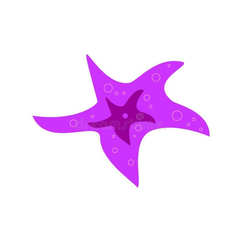 Illustration d'une étoile de mer rose sur un fond blanc illustration libre de droits