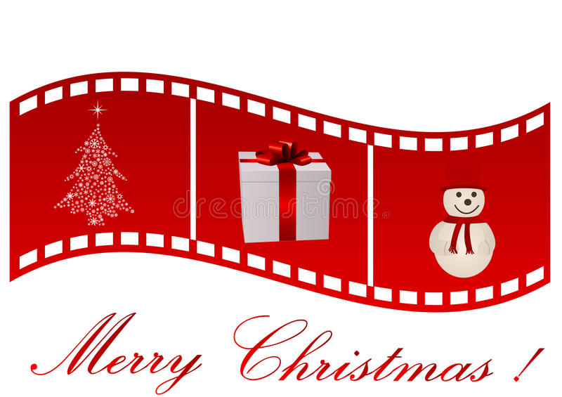 Illustration d'une bande de film avec le symbole de Noël illustration libre de droits