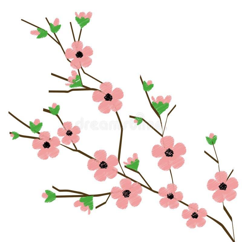 Branche de fleur illustration de vecteur