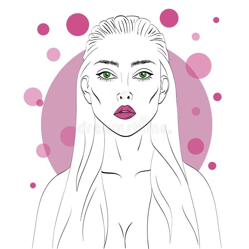 Illustration d'une fille de mode photo libre de droits