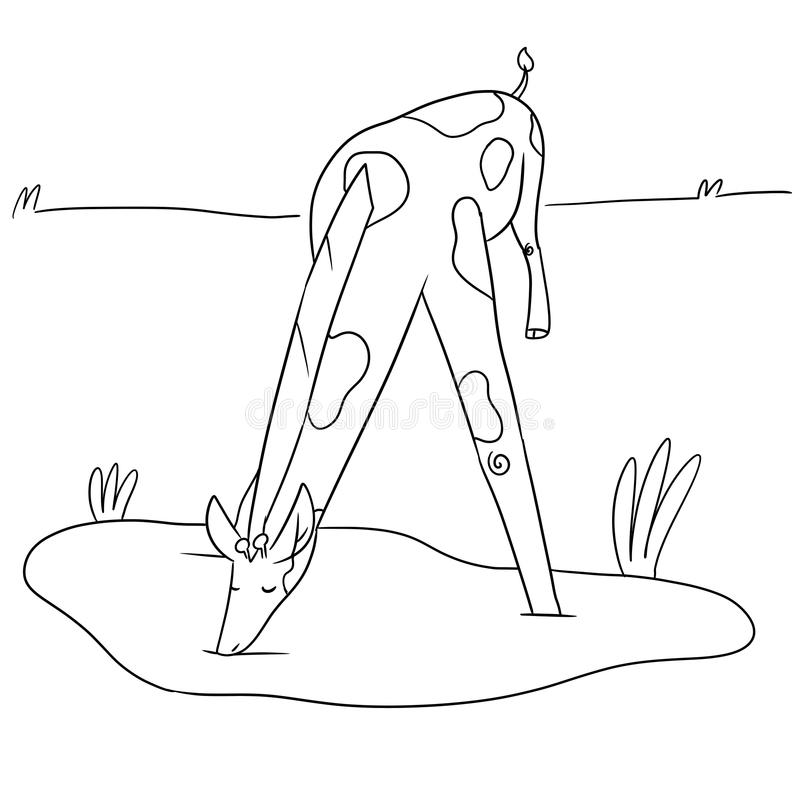 Illustration d'une girafe illustration stock