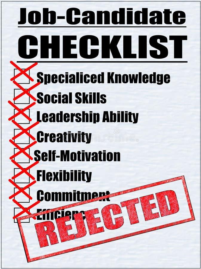 Illustration d'une liste de contrôle de Travail-Candidat illustration stock