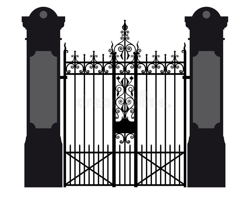 Illustration d'une porte de fer travaillé illustration de vecteur