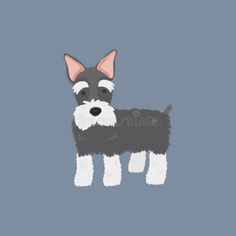 illustration d'une race de chien illustration de vecteur