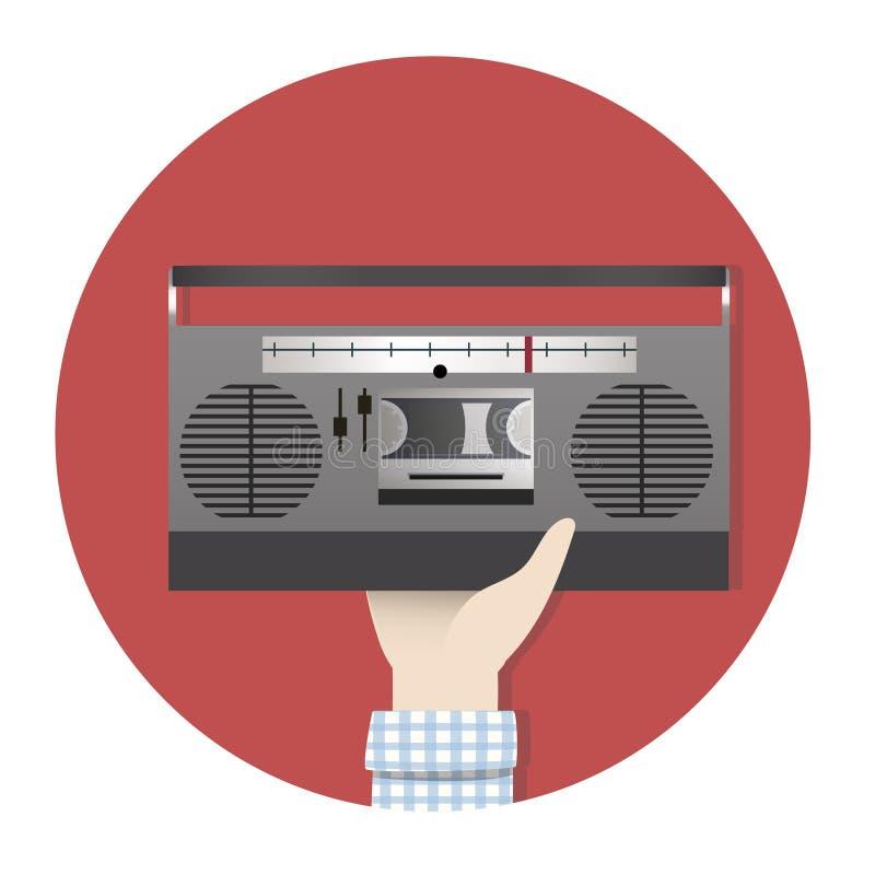 Illustration d'une radio de vintage illustration de vecteur