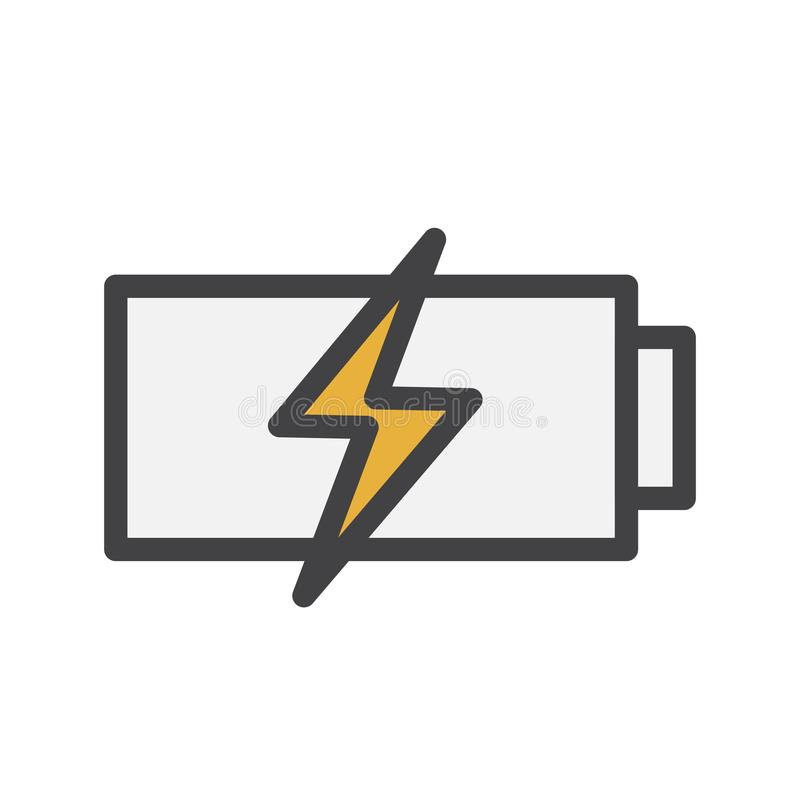 Illustration d'une recharge de batterie illustration de vecteur