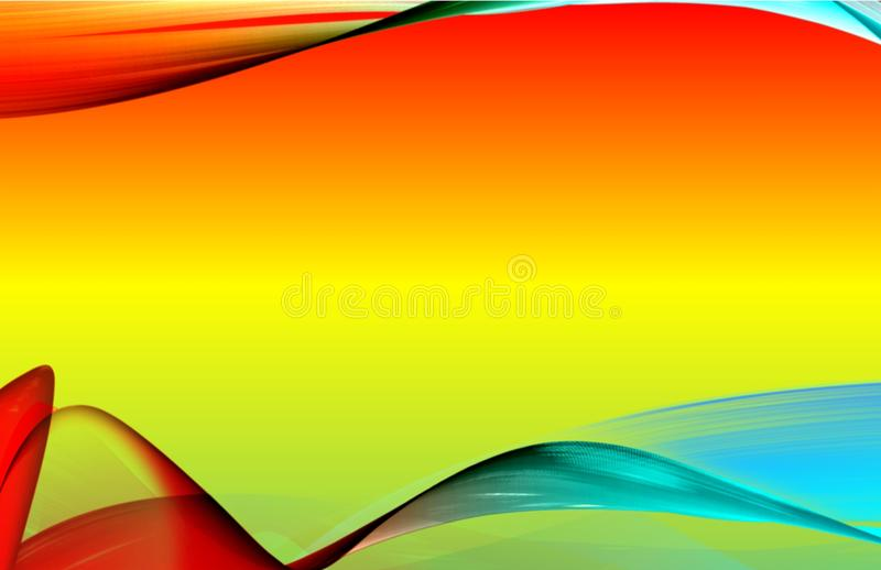 Illustration d'une terre arrière colorée illustration libre de droits