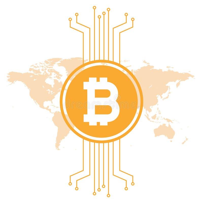 Illustration d'uVector de cryptocurrenc de Minimalistic Bitcoin illustration stock