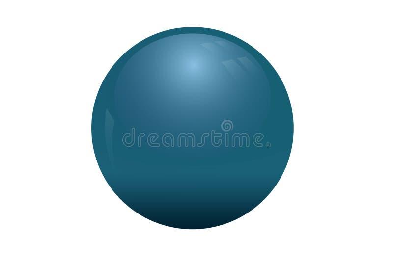 Illustration 3d von Ball sphare auf weißem Hintergrund stockfotografie