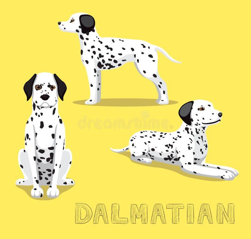 Illustration dalmatienne de vecteur de bande dessinée de chien illustration stock