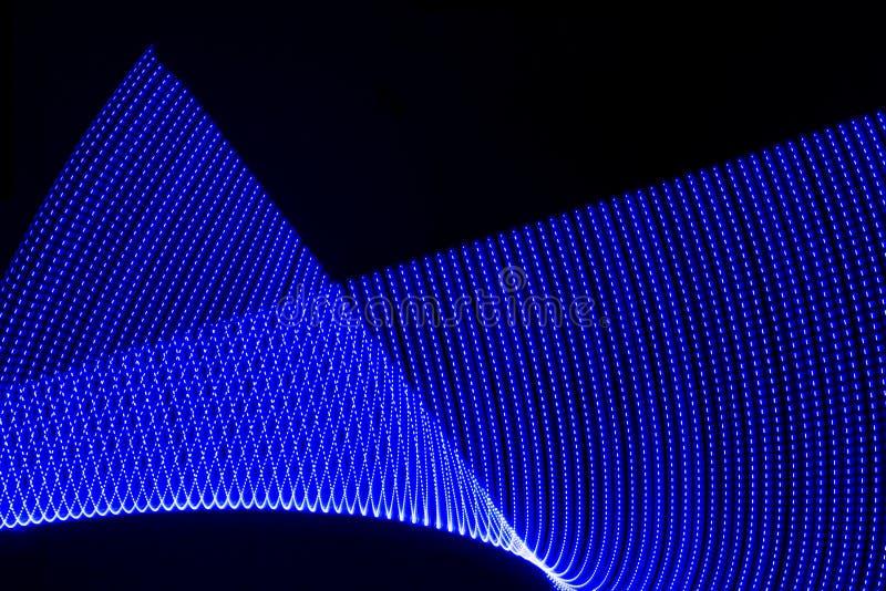 Illustration dans 3 d ou représentation dans 3 d Lumières formant des modèles sur le fond noir Ressource pour des concepteurs g?o image stock