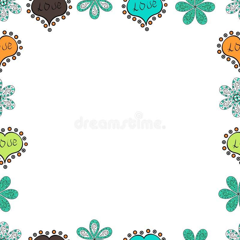 Illustration dans des couleurs bleues, blanches et noires illustration de vecteur