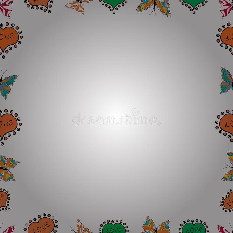 Illustration dans les couleurs blanches, oranges et noires illustration stock