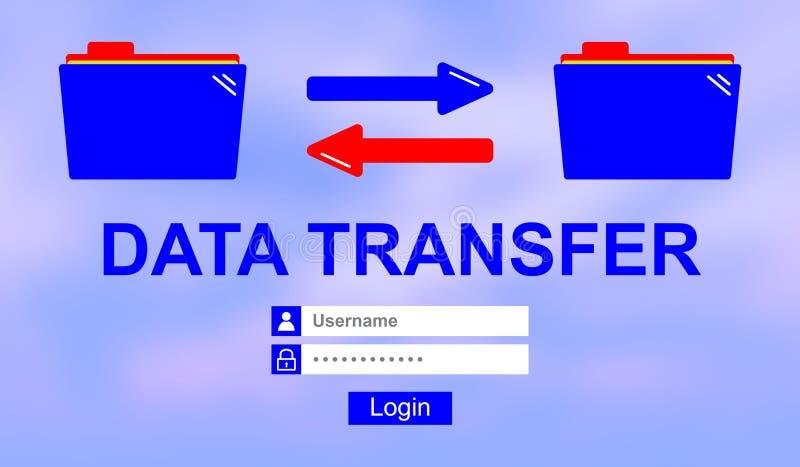 Concept of data transfer stock illustration