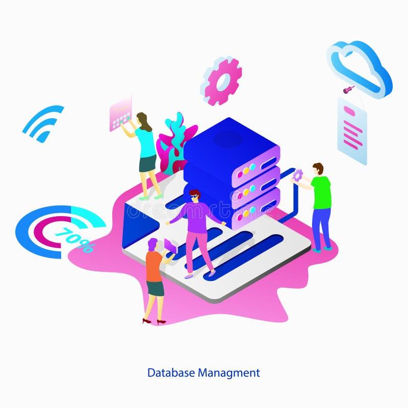 Illustration Database Management royalty free illustration