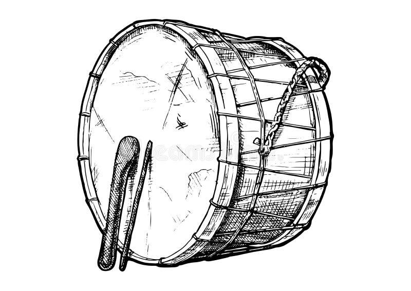 Illustration of davul vector illustration