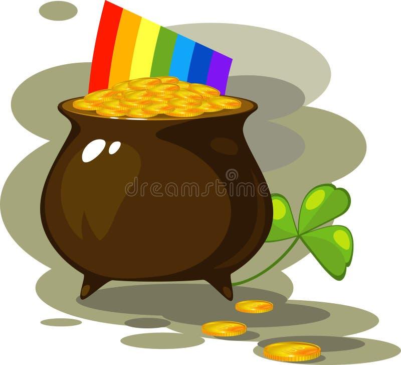 Illustration on the day of St. Patrick royalty free illustration