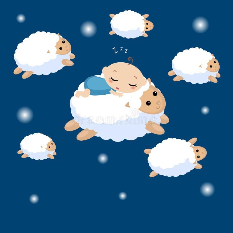Illustration de bébé de sommeil illustration libre de droits