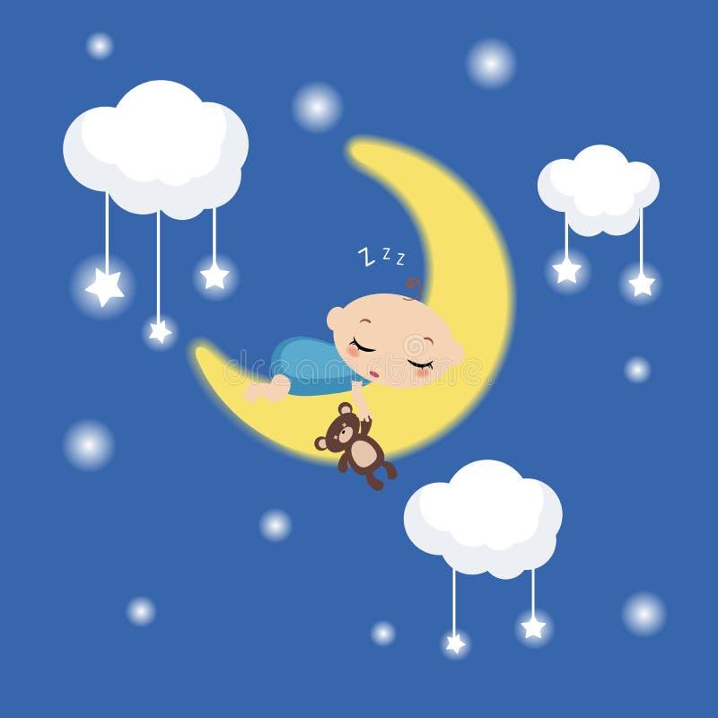 Illustration de bébé de sommeil illustration de vecteur