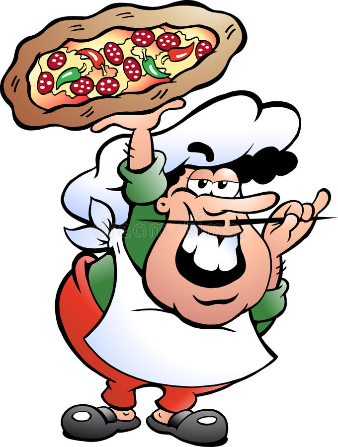 Illustration de Baker italien de pizza