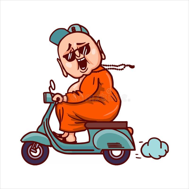 Illustration de bande dessinée de Bouddha illustration libre de droits
