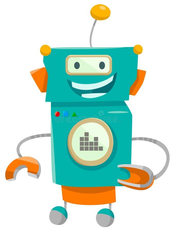 Illustration de bande dessinée de caractère de robot d'imagination illustration libre de droits