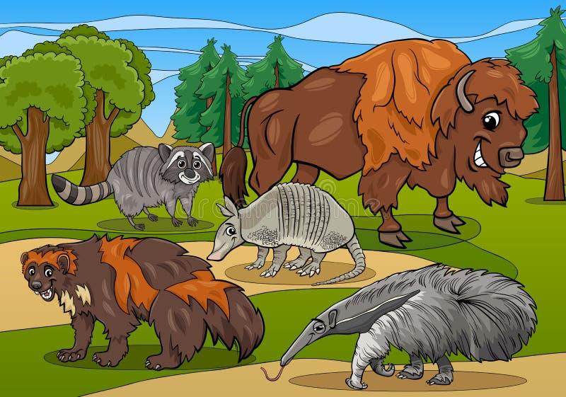 Illustration de bande dessinée d'animaux de mammifères illustration stock