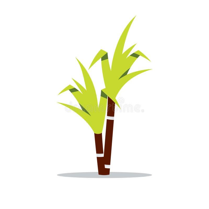 Illustration de bande dessinée de canne à sucre de vecteur