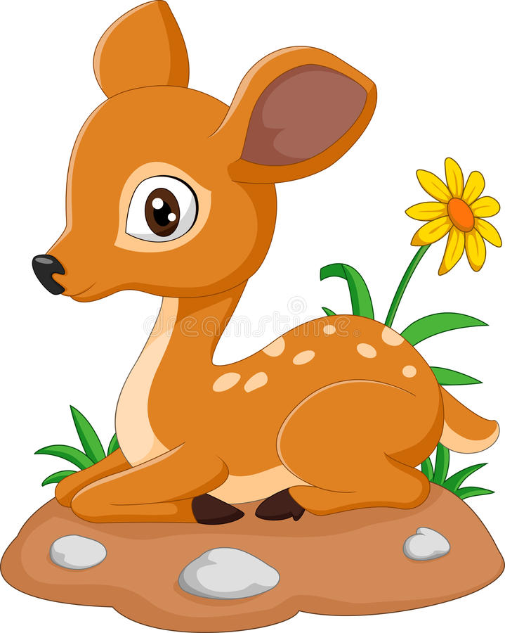 Illustration de bande dessinée de cerfs communs de souris illustration stock