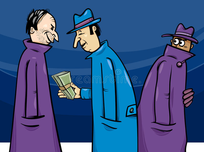 Illustration de bande dessinée de crime ou de corruption illustration de vecteur