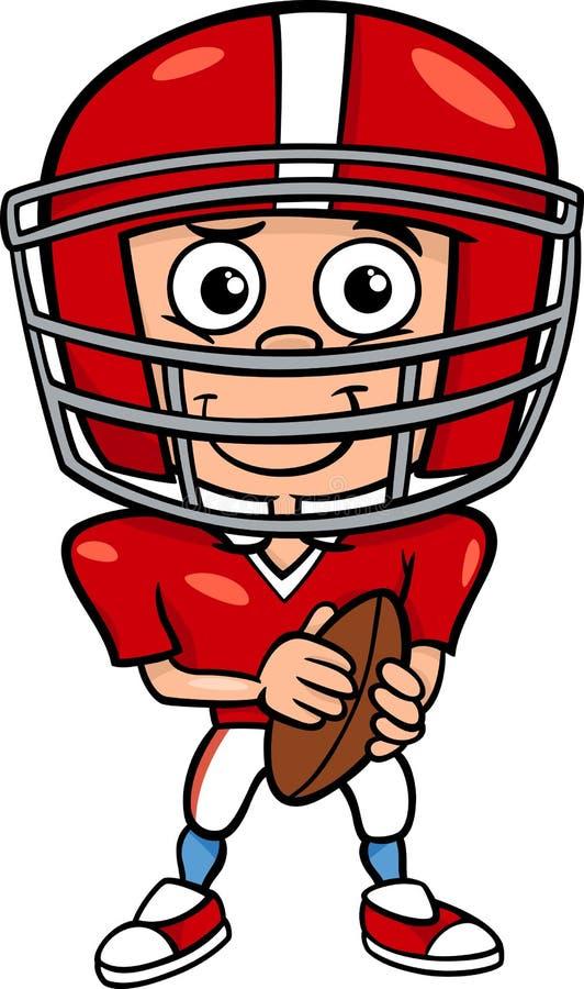 Illustration de bande dessinée de joueur de football de garçon illustration stock
