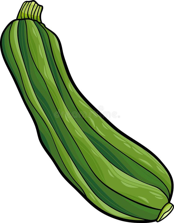 Illustration végétale de bande dessinée de courgette illustration de vecteur