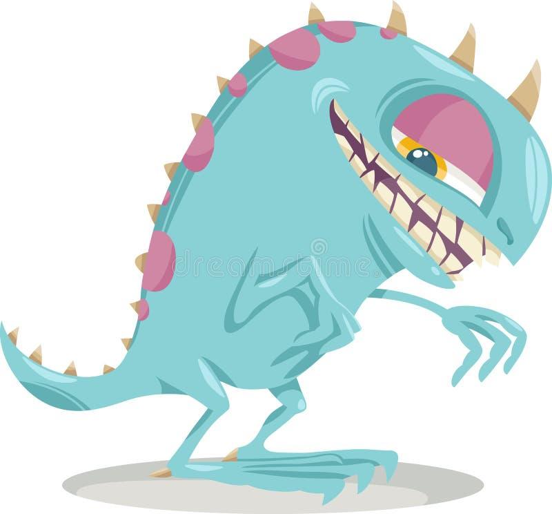 Illustration de bande dessinée de monstre d'imagination illustration stock