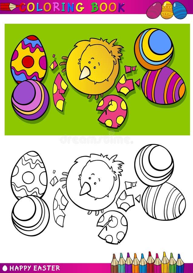 Illustration de bande dessinée de nana de Pâques pour la coloration illustration de vecteur