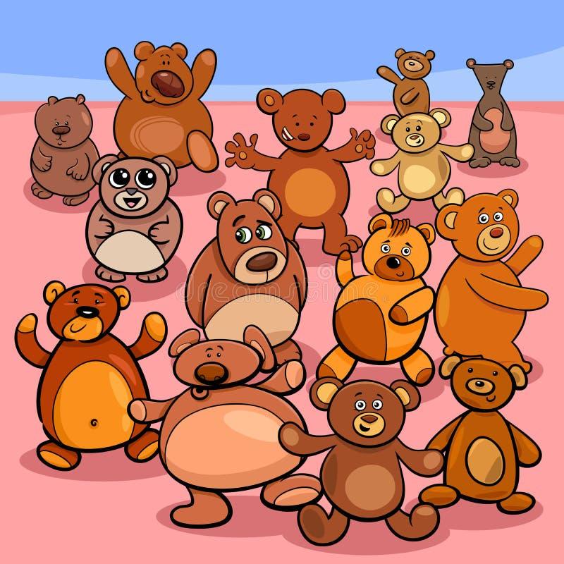 Illustration de bande dessinée de groupe d'ours de nounours illustration libre de droits