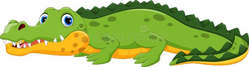 Illustration de bande dessinée mignonne de crocodile illustration de vecteur