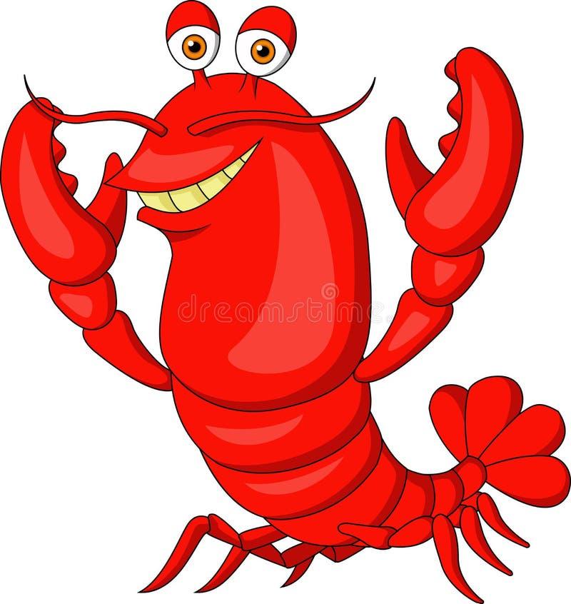 Bande dessinée mignonne de homard illustration de vecteur