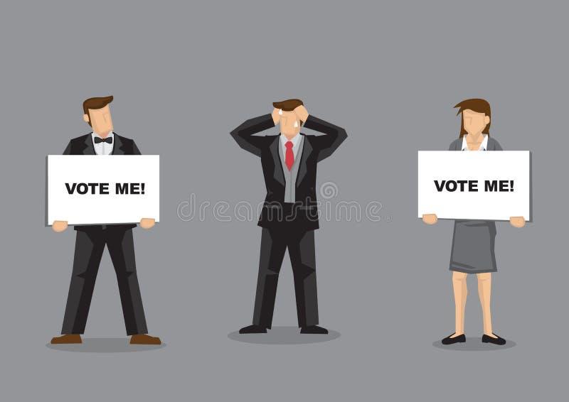 Illustration de bande dessinée de vecteur de dilemme du ` s d'électeur illustration de vecteur