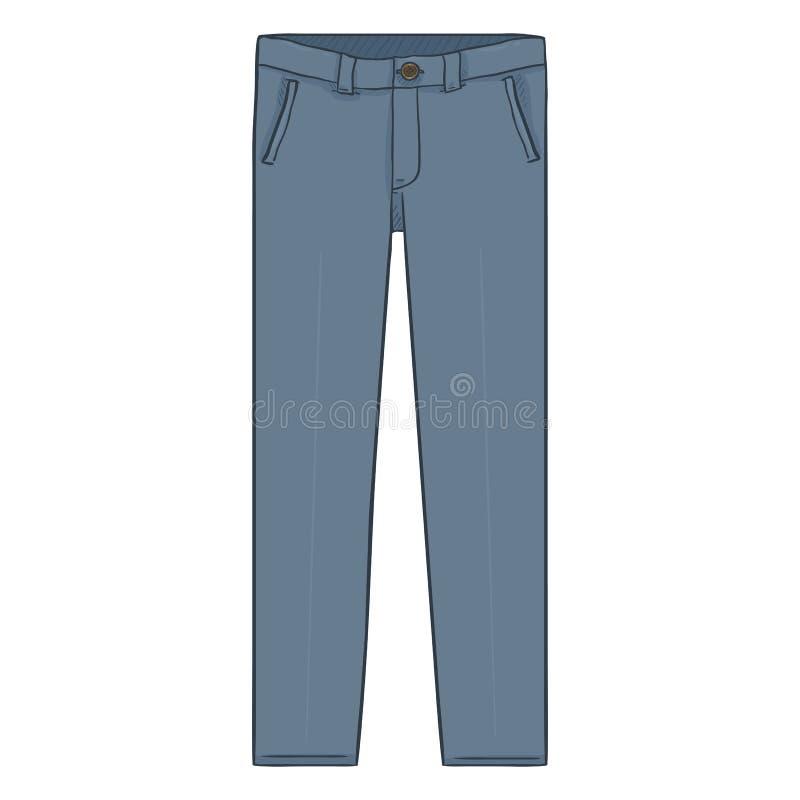 Illustration de bande dessinée de vecteur - Gray Classic Mens Trousers illustration de vecteur