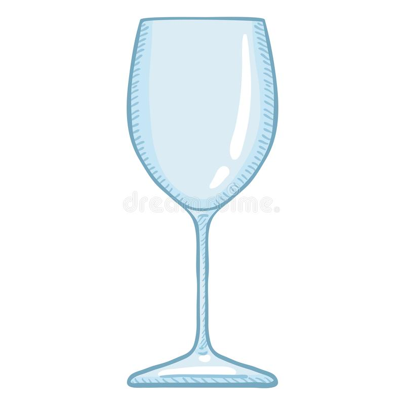 Illustration de bande dessinée de vecteur - verre de vin vide illustration libre de droits