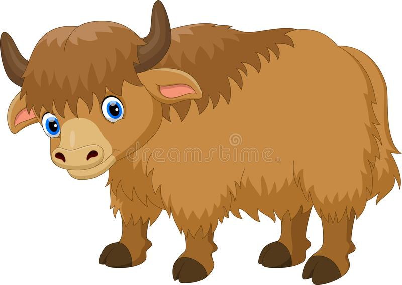 Illustration de bande dessinée mignonne de yaks illustration stock