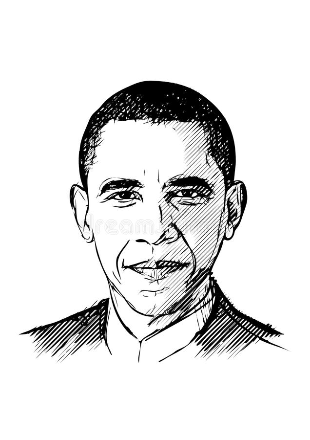Illustration de Barack Obama illustration libre de droits