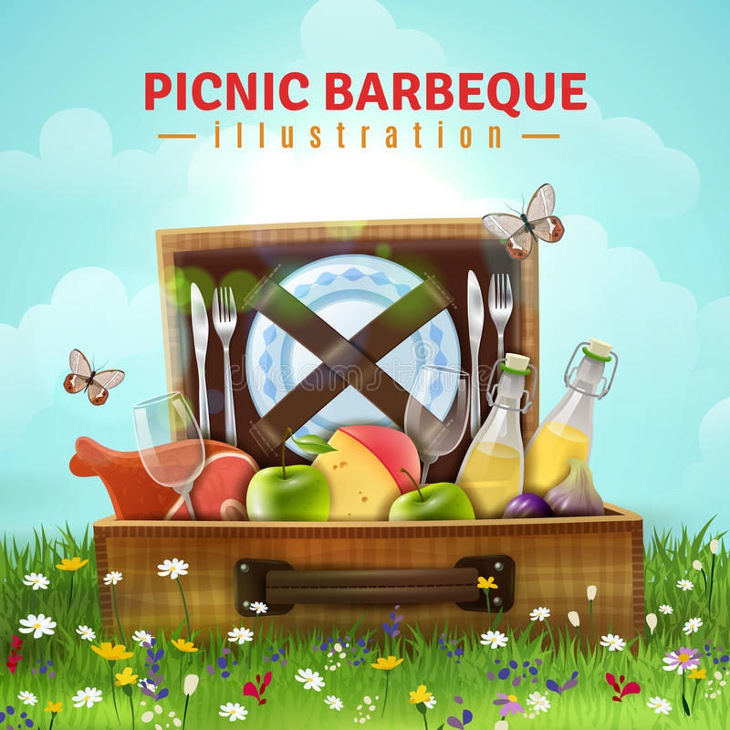 Illustration de barbecue de pique-nique illustration libre de droits