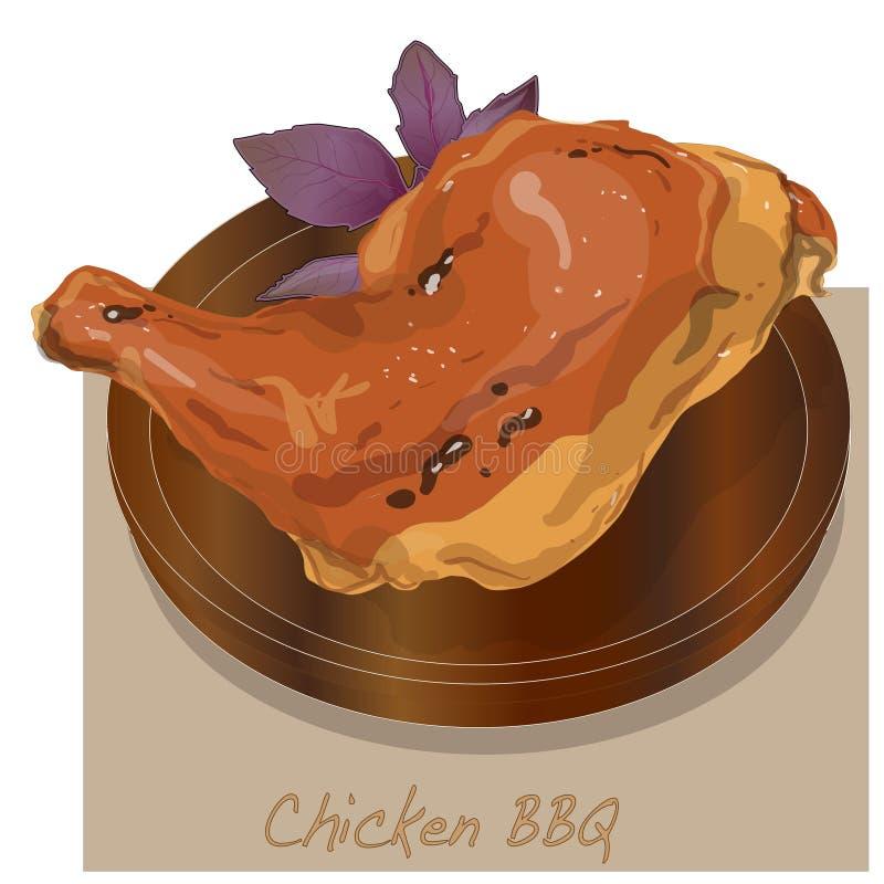Illustration de BBQ de poulet illustration libre de droits