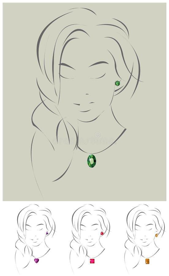 Illustration de beau modèle de bijou illustration libre de droits